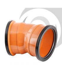 110mm UPVC Drainage Double Socket 22.5 Degree Bend
