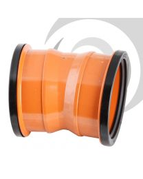 160mm uPVC Drainage Double Socket 11.25 Degree Bend