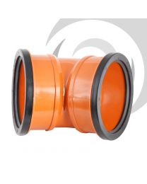 160mm UPVC Double Socket 45 Degree Bend