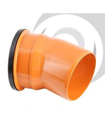 160mm UPVC Drainage Single Socket 22.5 Degree Bend