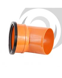 160mm UPVC Single Socket 45 Degree Bend