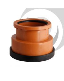 "4""/110mm Double Socket Clay To Plastic Adaptor"