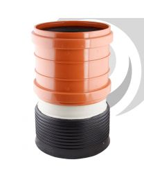 250mm UPVC Socket to 150mm Twinwall Socket Reducer