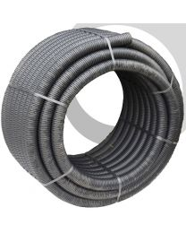 Perforated Land Drain: 160mm x50m Coil; Black
