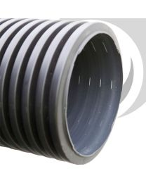 225mm Perforated Twinwall P/E Pipe x6m