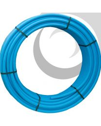 MDPE Water Pipe: 20mm x 50m Coil; Blue