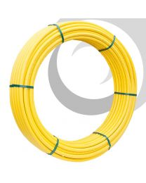 MDPE Gas Pipe: 25mm x 100m Coil; Yellow