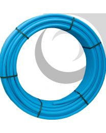 MDPE Water Pipe: 25mm x 50m Coil; Blue