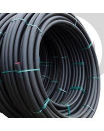 HDPE Water Pipe: 63mm x 100m Coil; Black