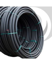 HDPE Water Pipe: 63mm x 25m Coil; Black