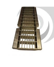 MULTIV 100mm Galv Heelguard Mesh Grating C250