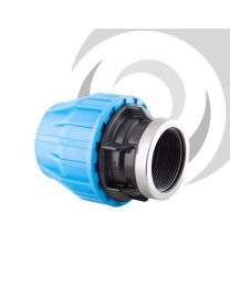 "90mm x 3"" Compression Adaptor FEMALE Thread"