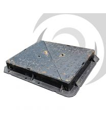 600mm x 450mm Ductile Iron Manhole Cover & Frame: D400