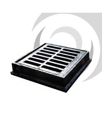 225mm x 225mm Ductile Iron Gully Grate Hinged (flat): B125