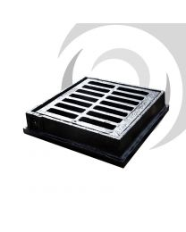 300mm x 300mm Flat Ductile Iron Gully Grate: C250