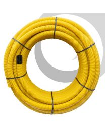 Perforated Gas Duct: 100mm x 50m Coil; Yellow