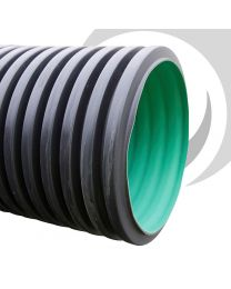 225mm BBA Twinwall Plain Ended Pipe x6m