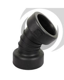 225mm Twinwall Drain Double Socket 45 Degree Bend