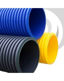 225mm Twinwall Gas / Yellow Ducting x 6m