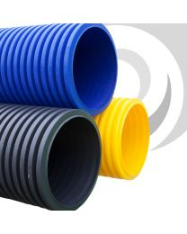 300mm Twinwall Gas / Yellow Ducting x 6m