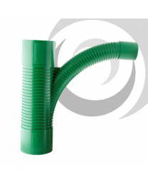 96/54mm Cable TV Duct Swept Tee; Green