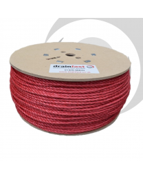 6mm Polypropylene Drawcord x500m Drum; Red