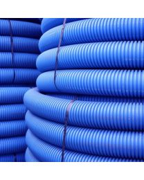 110mm Twinwall Duct x 50m; Blue