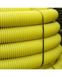 63mm OD Twinwall Duct x50m; Yellow