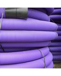63mm Twinwall Duct x 50m; Purple