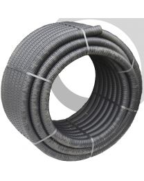 100mm Black Unperforated Land Drainage 50m Coil