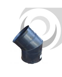 150mm ID Twinwall Drain Bend D/Socket 45deg