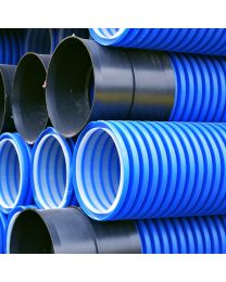 150mm Twinwall Blue / Water Ducting x 6m