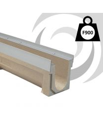 F100K 100mm W x 250mm D Polymer Channel x1m
