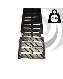 MULTIV+200 200mm Ductile Iron Heelproof Grate C250