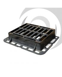 600mm x 600mm Flat Ductile Iron Gully Grating: D400