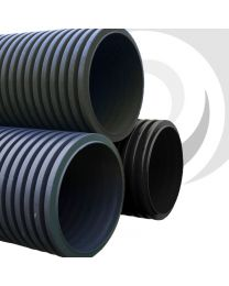 300mm Twinwall Electrical / Black Ducting x 6m