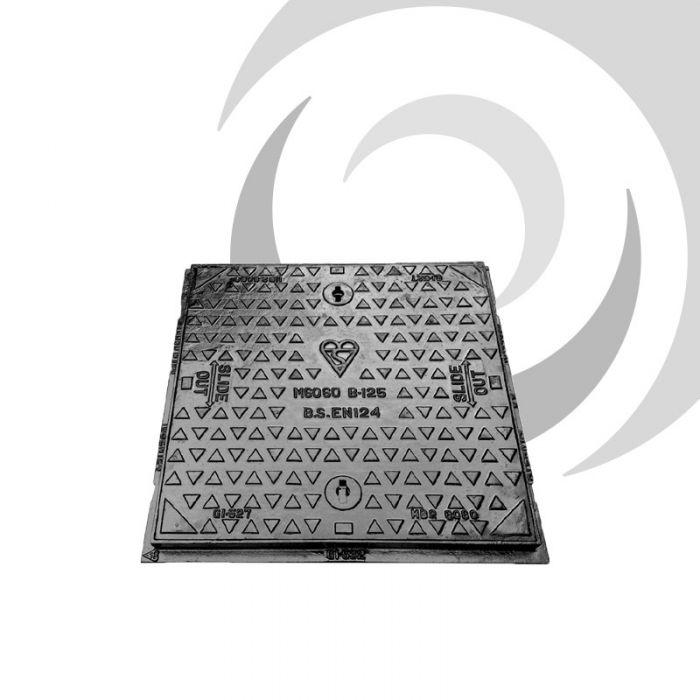 750mm x 600mm Ductile Iron Manhole Cover & Frame: B125 | Drainfast Ltd