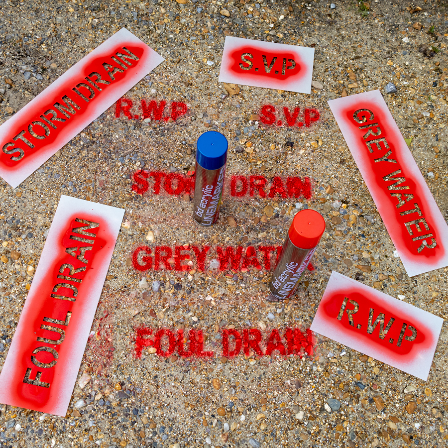 New Spray Paint Stencil Kit for Groundworkers