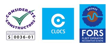 Considerate Constructors, FORS & CLOCS logos