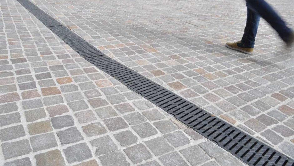 channel drainage in walkway